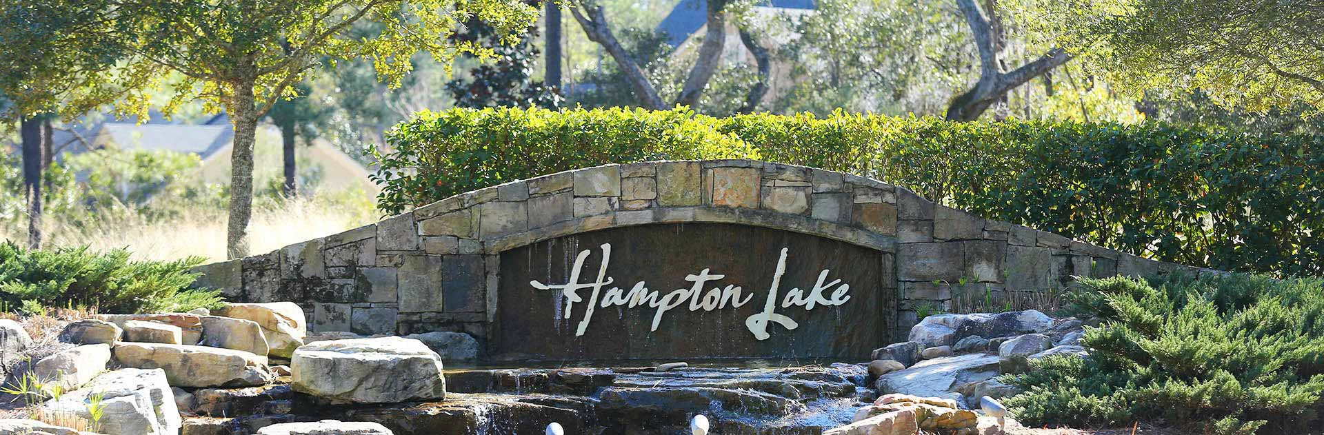 Hampton Lake Community Sign